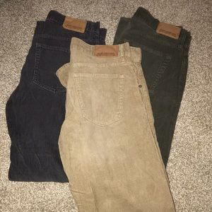 Old navy corduroys jeans 3 pack